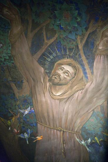 Mural in St. Nicholas Croatian Catholic Church, Millvale, Pa, Usa-Dave Bartruff-Photographic Print