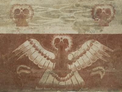 Mural in the Palace of Tetitla, Believed to Represent An Eagle, Arch. Zone of Teotihuacan, Mexico-Richard Maschmeyer-Photographic Print