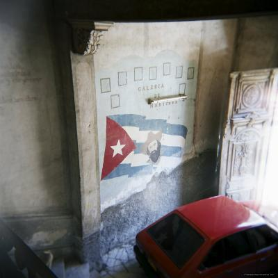Mural of Camilo Cienfuegos on the Wall of an Apartment Building, Havana, Cuba-Lee Frost-Photographic Print