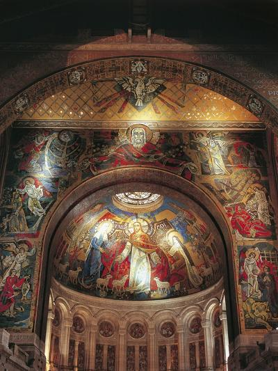 Mural on the Wall of a Basilica, St. Therese's Basilica, Lisieux, Basse-Normandy, France--Giclee Print