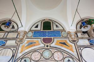 Mural on the wall of a mosque, Al-Jazzar Mosque, Acre, Israel