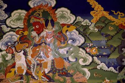 Mural Painting from Lamaist Monastery of Lamayuru, Laddakh, India--Giclee Print