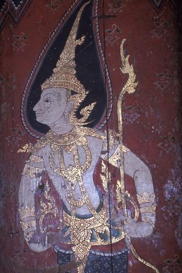 Mural Painting in Wat Suwan Dararam Temple in Ayutthaya--Photographic Print