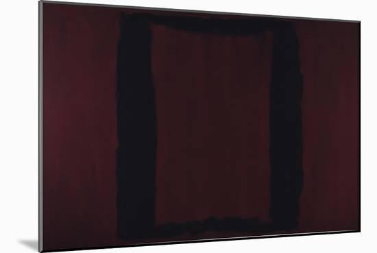 Mural, Section 3 {Black on Maroon} [Seagram Mural]-Mark Rothko-Mounted Premium Giclee Print