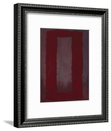 Mural, Section 4 {Red on maroon} [Seagram Mural]-Mark Rothko-Framed Giclee Print