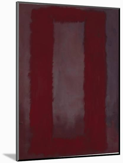 Mural, Section 4 {Red on maroon} [Seagram Mural]-Mark Rothko-Mounted Giclee Print