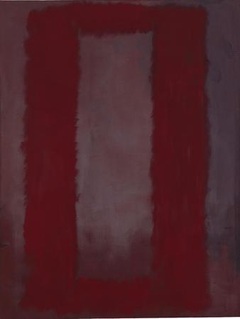 Mural, Section 4 {Red on maroon} [Seagram Mural]-Mark Rothko-Premium Giclee Print