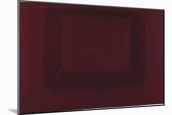 Mural, Section 7 {Red on Maroon} [Seagram Mural]-Mark Rothko-Mounted Giclee Print