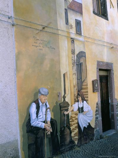 Murals in the Village of Tinura, Bosa Region, Island of Sardinia, Italy, Mediterranean-Bruno Morandi-Photographic Print