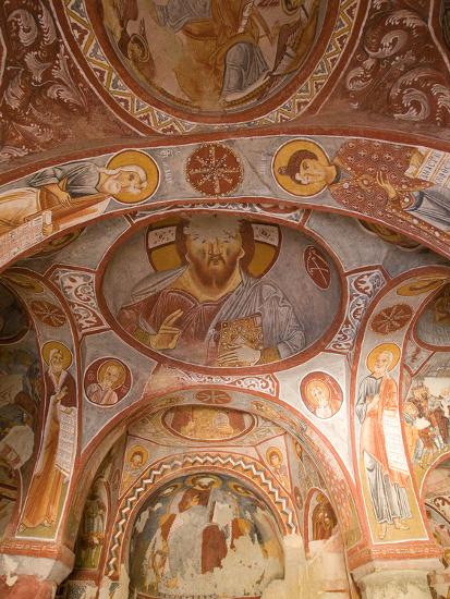 Murals on the Walls of a Church Carved into the Cliffs-Joe Petersburger-Photographic Print