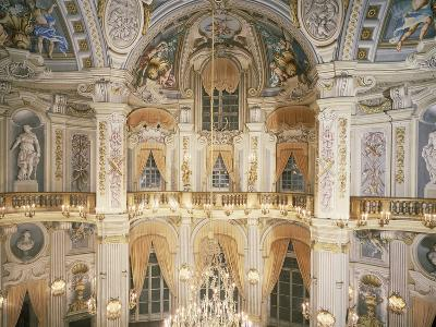 Murano Chandelier and Frescoes--Photographic Print