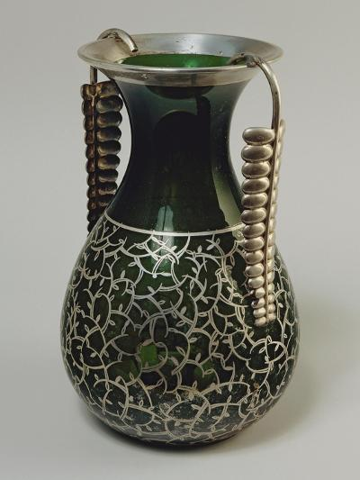 Murano Glass Silver Plated Vase, Le Argenterie D'Italia Manufacture--Giclee Print