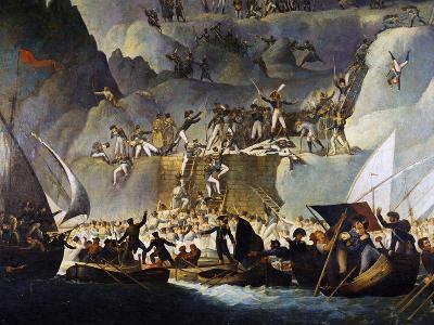 Murat's Troops Launching Attack on Capri from the Punta Carena Side, October 5, 1808-Edward Fischetti-Giclee Print