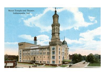 Murat Temple, Indianapolis, Indiana--Art Print