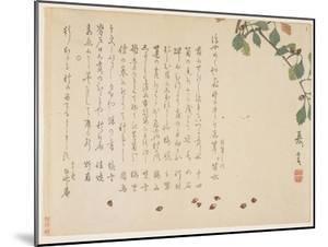 Oak Branch and Acorns by Murata Kagen