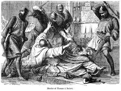 Murder of Thomas a Becket, 1170--Giclee Print