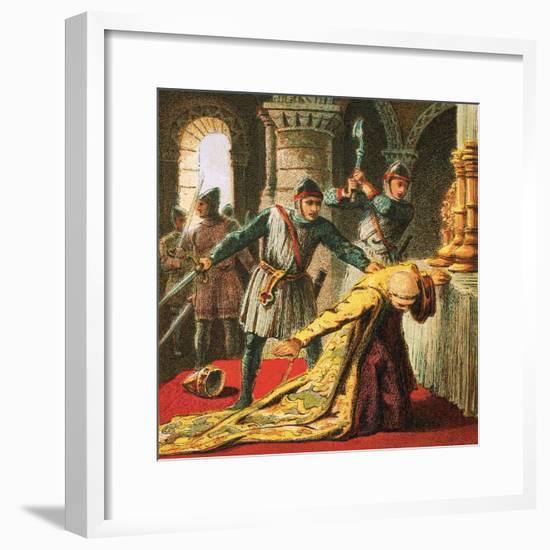 Murder of Thomas a Becket-English-Framed Giclee Print