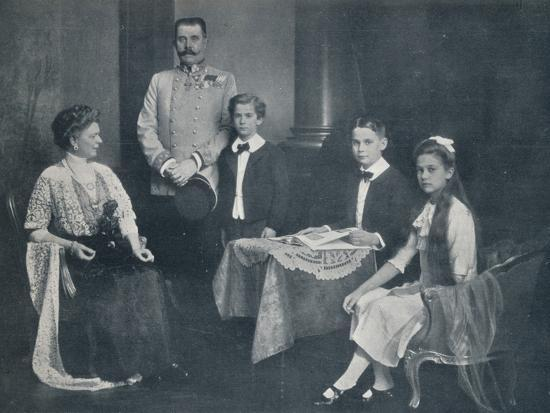 Murdered Archduke Francis Ferdinand with his wife and children, c1910-Unknown-Photographic Print
