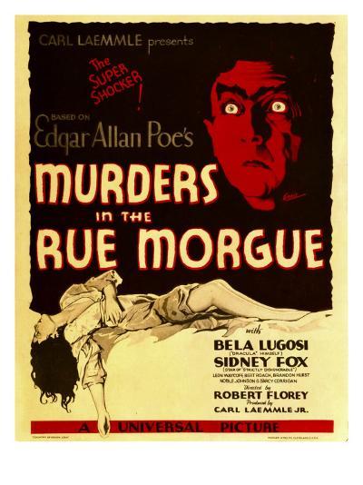 Murders in the Rue Morgue, Bela Lugosi on Window Card, 1932--Photo