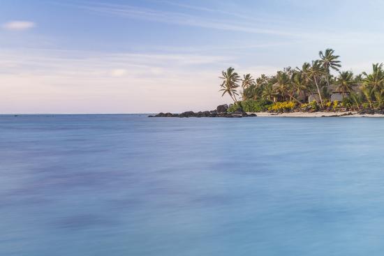 Muri Lagoon Sunrise, Rarotonga, Cook Islands, South Pacific, Pacific-Matthew Williams-Ellis-Photographic Print