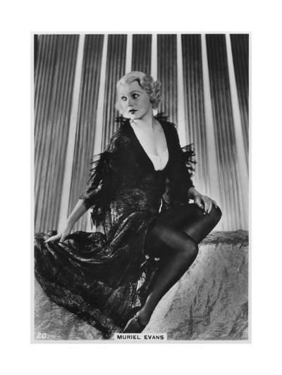 Muriel Evans, American Film Actress, C1938--Giclee Print