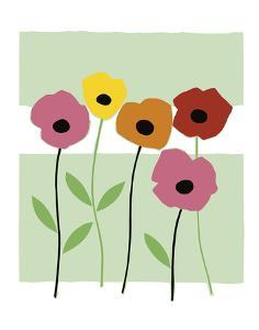 Playful Poppies by Muriel Verger
