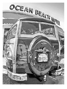 Ocean Beach Woodie #9 by Murray Bolesta