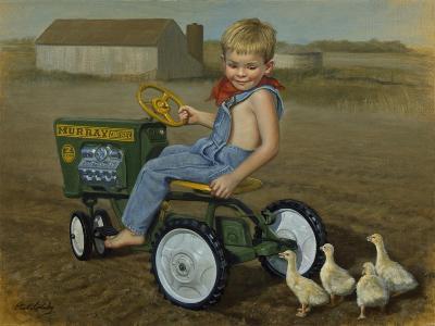 Murray Diesel Tractor-David Lindsley-Giclee Print