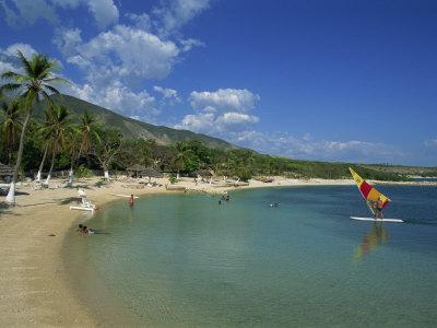 Beach at the Kyona Beach Club, Near Port Au Prince, Haiti, West Indies, Caribbean