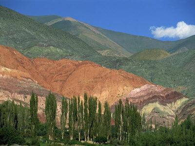 Seven Colours Mountain at Purmamaca Near Tilcara in Argentina, South America