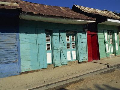 Typical Housing in the Town of Cap Haitien, Haiti, West Indies, Caribbean, Central America