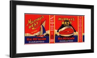 Murrays Best Brand Salmon Label - Alaska-Lantern Press-Framed Art Print
