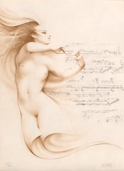 Muse I (ocre)-Gerard Daran-Limited Edition