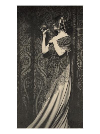 Muse Staring at Black Ball--Art Print