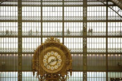 Musee D'Orsay Clock, Paris, France, Europe-Neil Farrin-Photographic Print