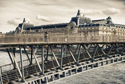 Musee d'Orsay - Solferino Bridge view - Paris - France-Philippe Hugonnard-Photographic Print