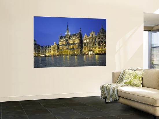 Musee de La Ville, Grand Place, Brussels, Belgium-Jon Arnold-Giant Art Print