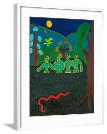 Muses in the river-Cristina Rodriguez-Framed Giclee Print