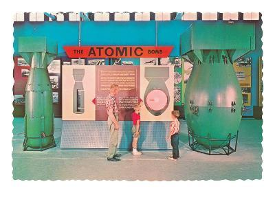 Museum Display of Atomic Bombs--Art Print