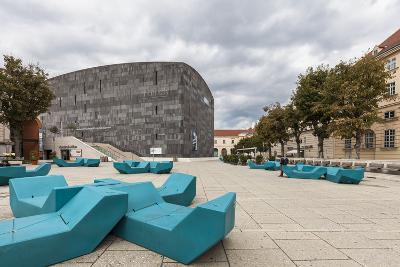 Museum of Modern Art Ludwig Wien (Mumok), in Museumsquartier, Vienna, Austria, Europe-Gerhard Wild-Photographic Print