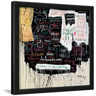 Museum Security (Broadway Meltdown), 1983-Jean-Michel Basquiat-Framed Giclee Print