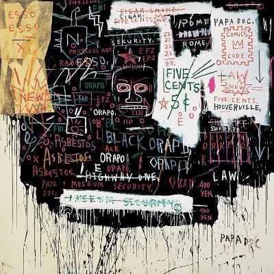 Museum Security (Broadway Meltdown), 1983-Jean-Michel Basquiat-Giclee Print