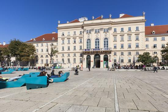 Museumsquartier, Vienna, Austria, Europe-Gerhard Wild-Photographic Print