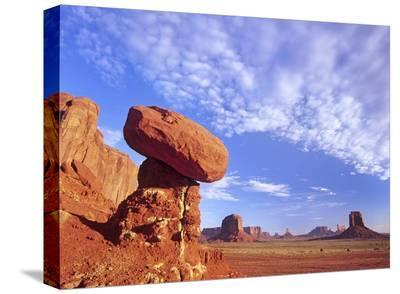 Mushroom Rock in Monument Valley Najavo Tribal Park, Arizona-Tim Fitzharris-Stretched Canvas Print
