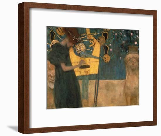 Music, 1895-Gustav Klimt-Framed Giclee Print