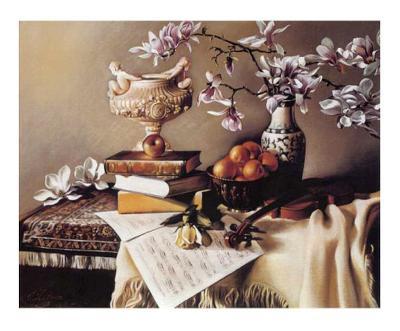 Music and Magnolia-Elena Litvin-Art Print