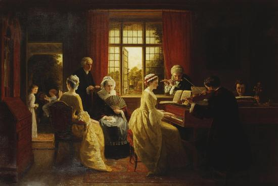 Music at the Parsonage-Frederick Daniel Hardy-Giclee Print