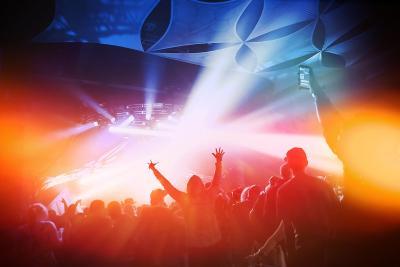 Music Concert. Instagram Effect-soupstock-Art Print