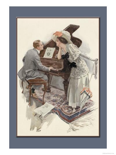Music Hath Charms-Harrison Fisher-Art Print