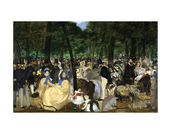 Music in the Tuileries, 1862-Edouard Manet-Art Print